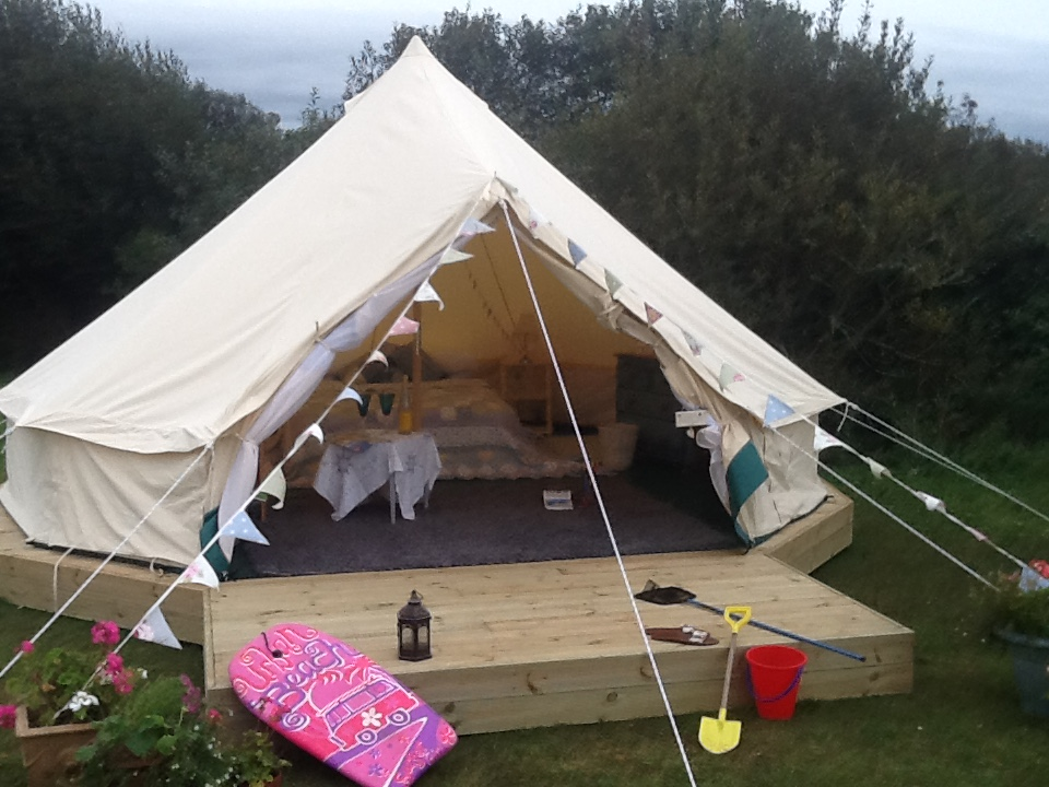 Contact Little Trethvas for Bell Tent C&ing in Cornwall! & Bell Tents Camping Cornwall | Bell Tents Cornwall South West ...